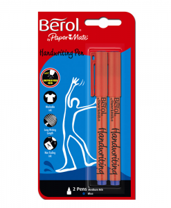 02021520-Berol-Handwriting-Pens-Blue-Twin-Pack